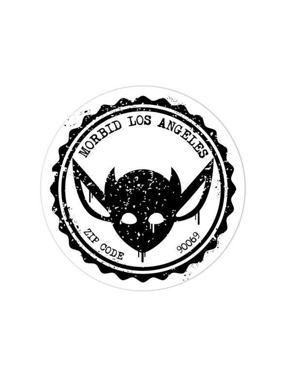 Morbid LA Streetwear Black Grunge IMP Sticker Decals