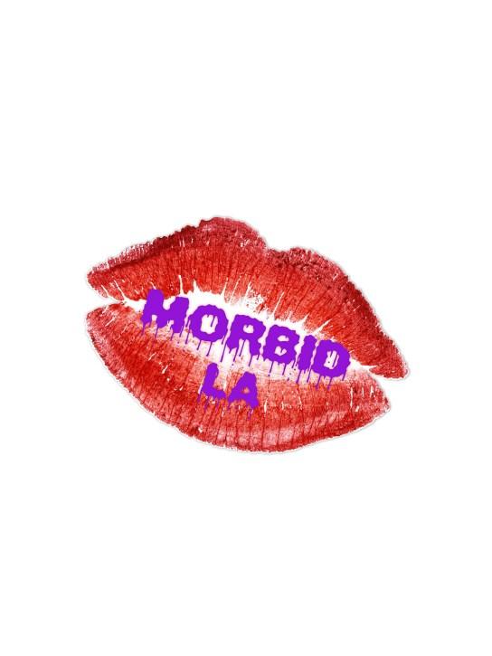 Morbid LA Streetwear Purple Lips Sticker Decals