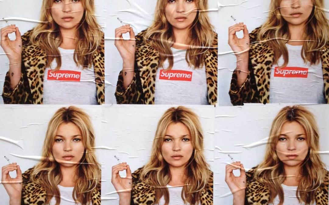 Kate Moss Supreme Ad