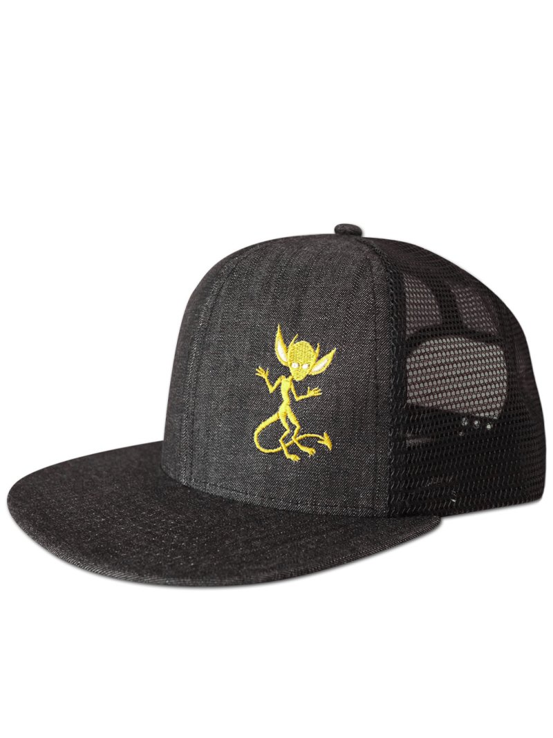 Morbid fiber Denim Yellow IMP Hat