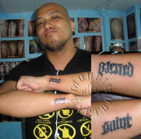 Blessed Saint Cursed Sinner Morbidtattoocom