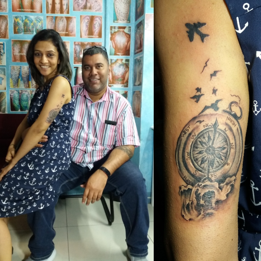 381fdff3b42d8 Indian client gets a custom Travel design done by luigi at morbid tattoo  parlor in cash and carry mall makati manila philippines.