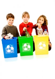 recycling - kids helping the earth