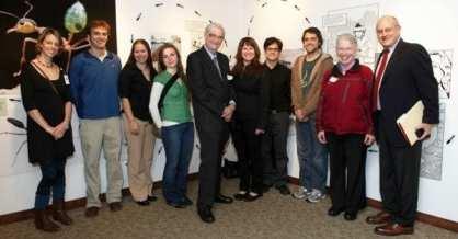 Group photo - E.O. Wilson visits the Moreau Lab – November 2010