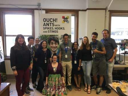Group photo, Moreau Lab, Summer 2018