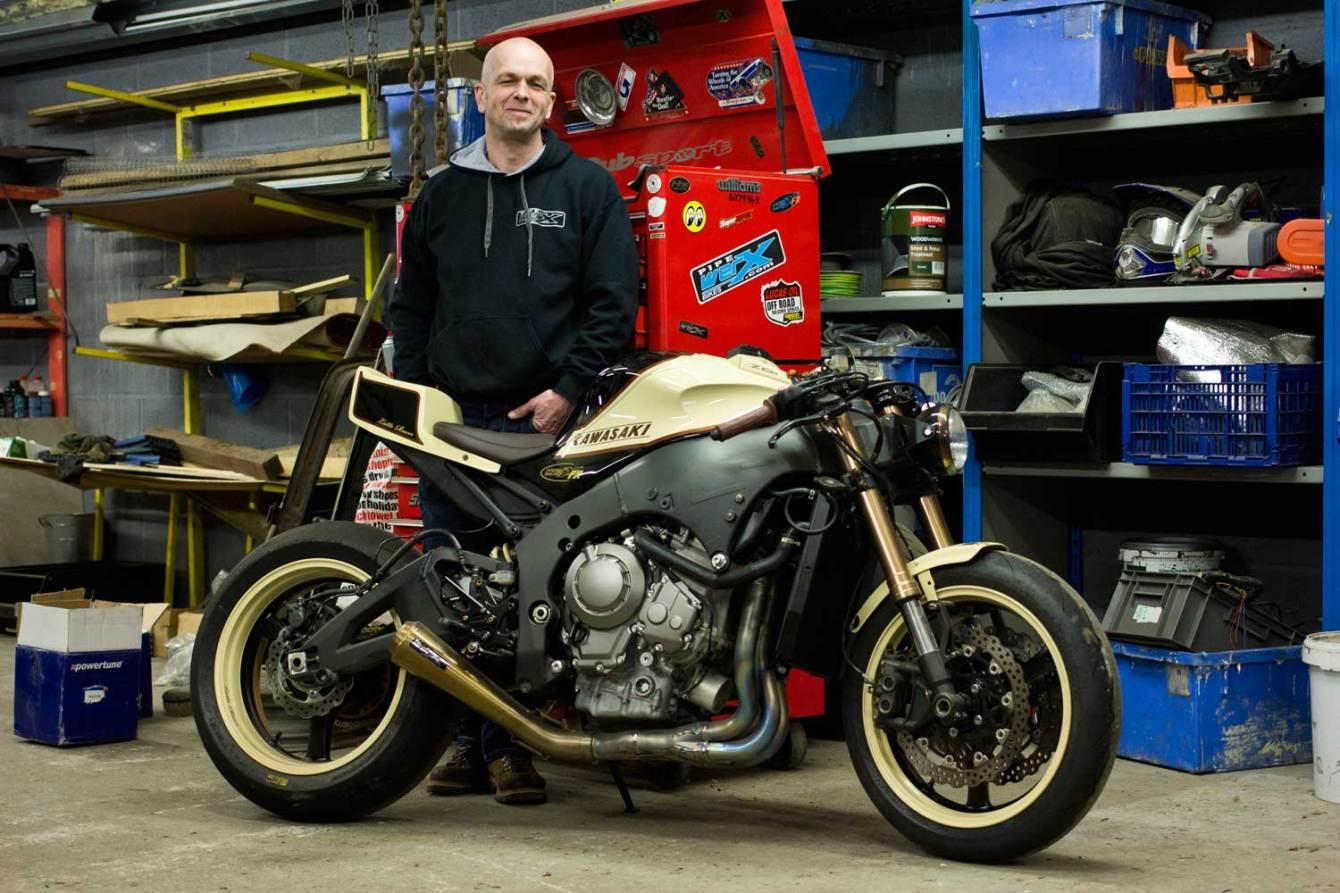 Ian Birch with his ZX-10R-based 'Latte racer'