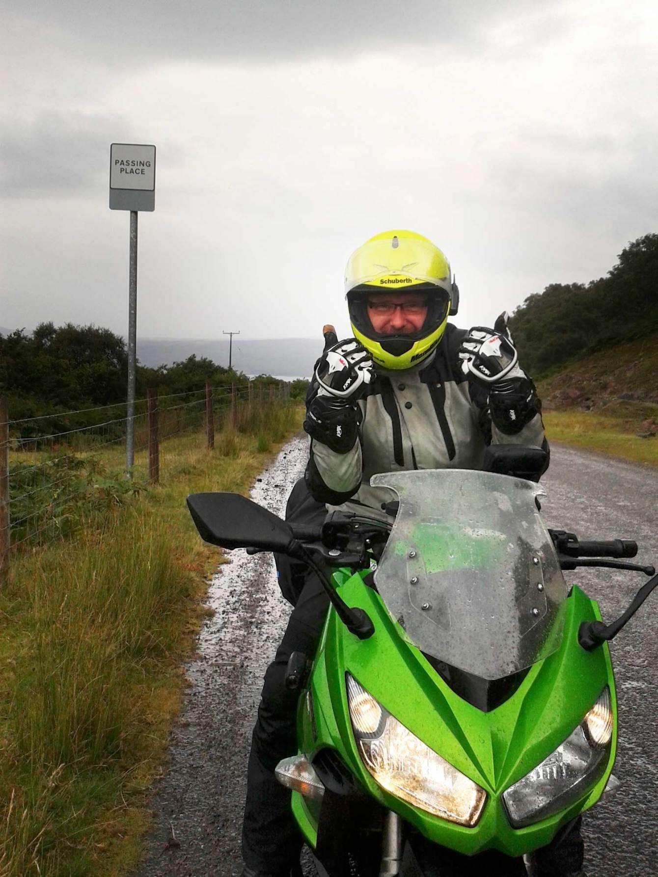 Despite the rain, Applecross was an amazing ride