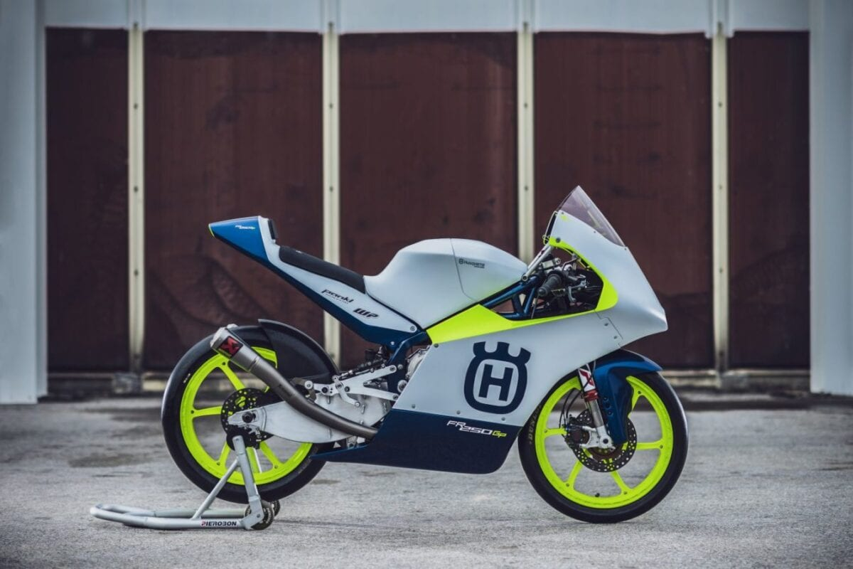 Here's a look at Husqvarna Motorcycles' new Moto3 machine for the 2020 race season. It's called the FR 250 GP.