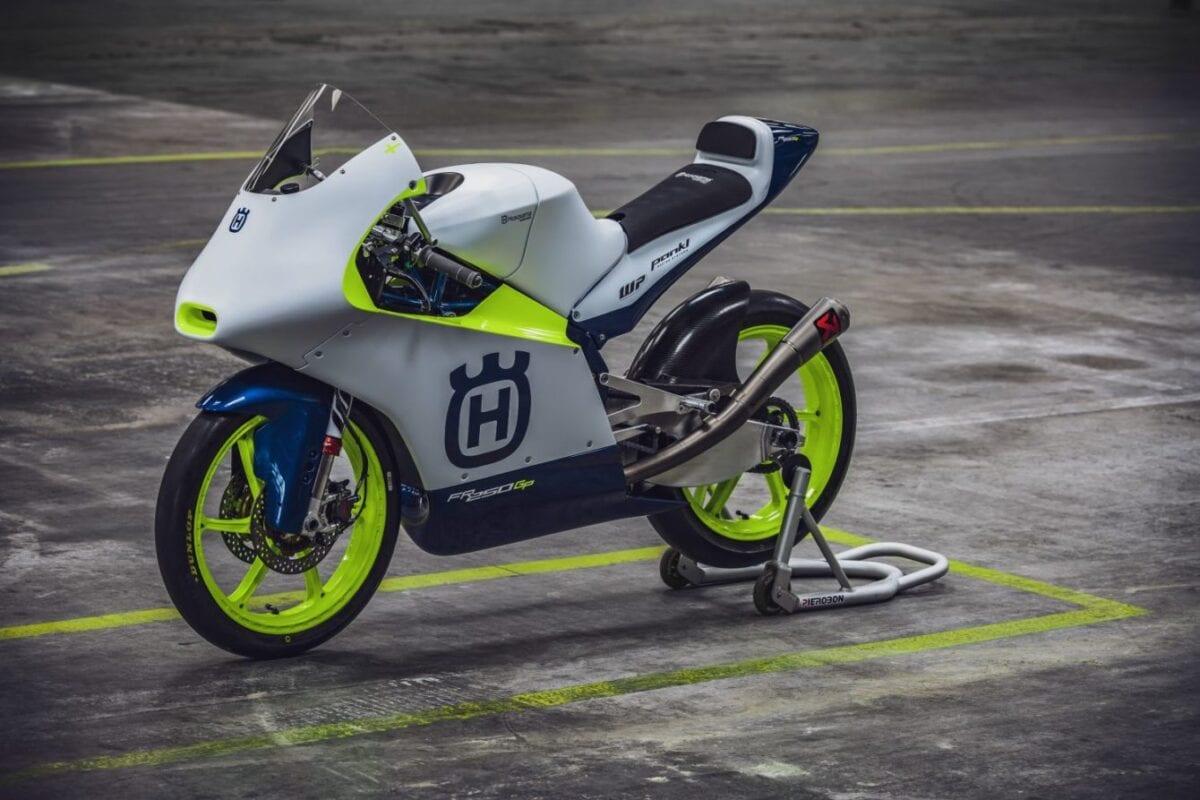 Husqvarna's Moto3 race motorcycle.
