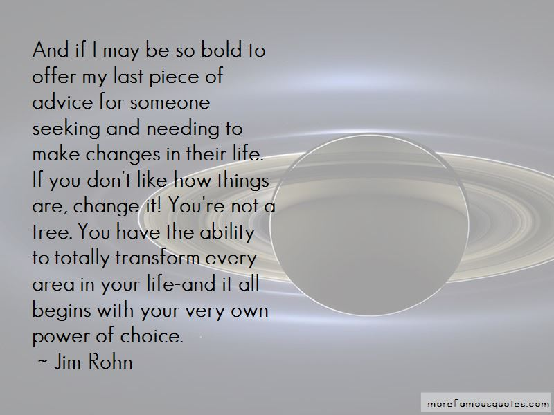 Change Begins Choice Jim Rohn