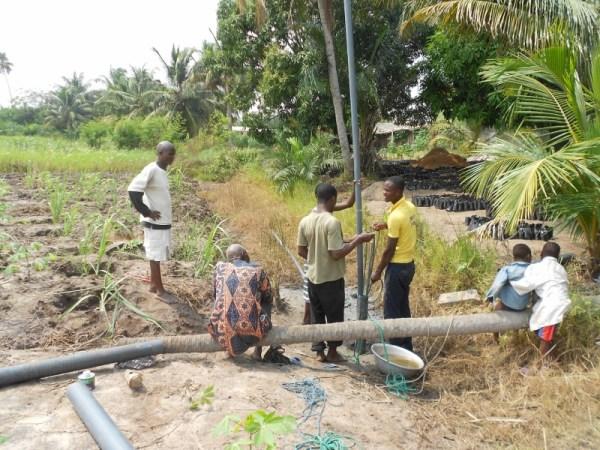 Srohume Village working on Borehole