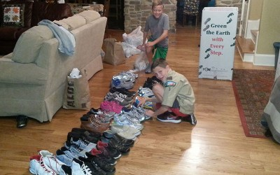 Boy Scout Collects 6 Boxes of Shoes for MORE