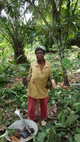 ATSU BABAY AND HER SEEDLINGS