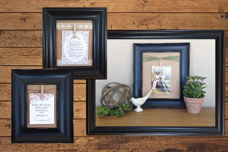 DIY Clothespin Picture Frames