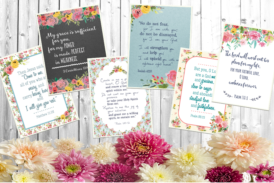 image about Free Printable Scripture Cards called Free of charge Printable Scripture Playing cards Excess Which include Grace