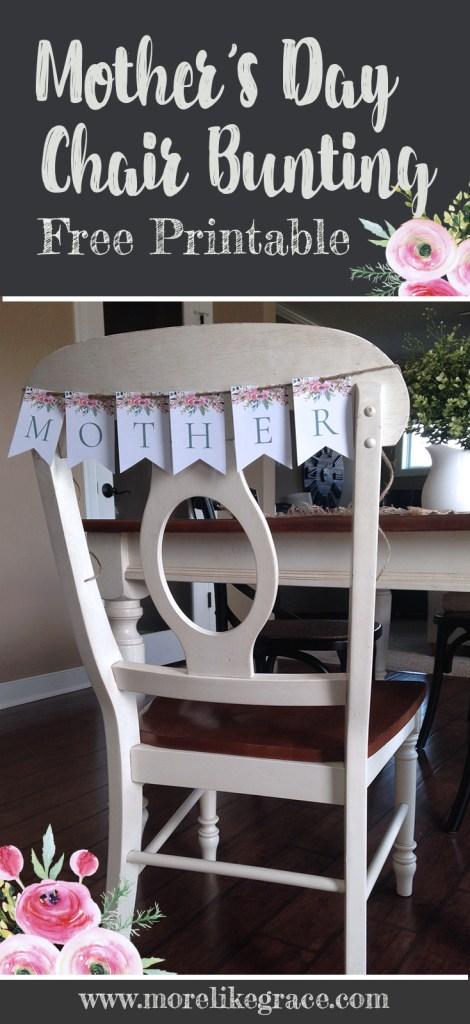 Free Printable Chair Bunting