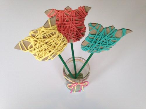 Yarn Flowers Craft