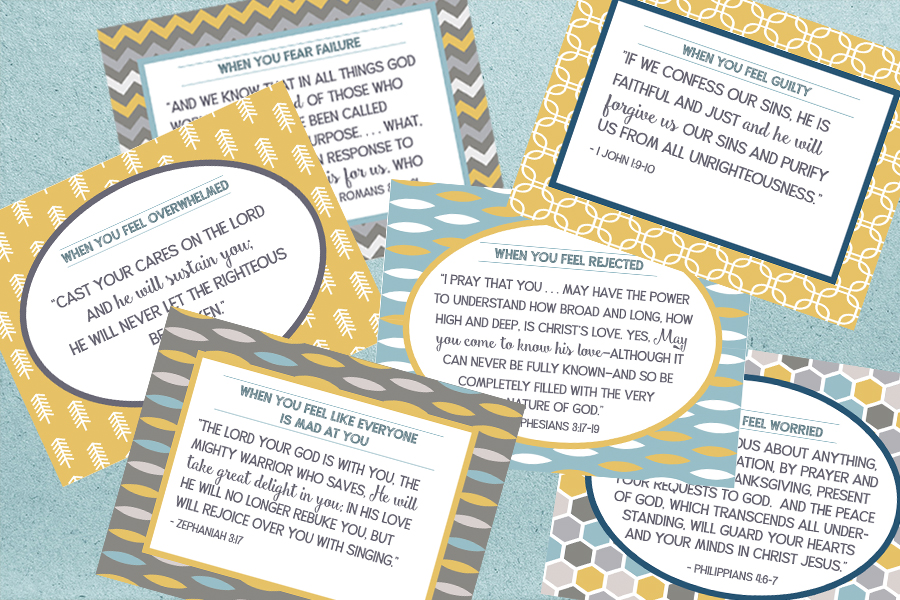 Scripture Prayer Cards for Children – Free Printable