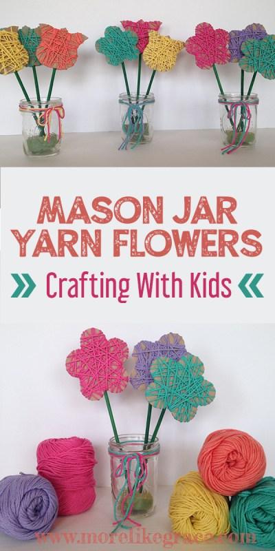 Easy Yarn Flowers DIY