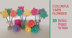 Easy Yarn Flowers Craft