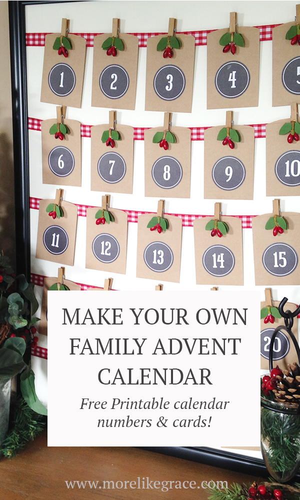 picture about Advent Calendar Numbers Printable identified as Presents for Jesus\