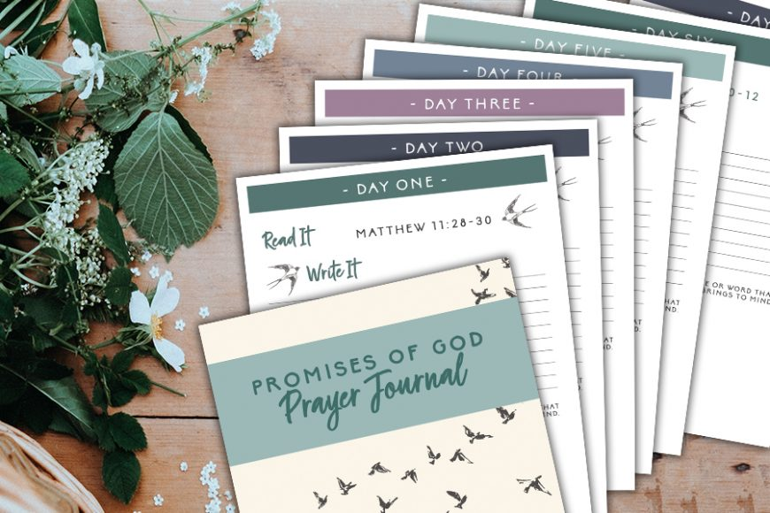 Promises Of God Prayer Journal – Free Printable