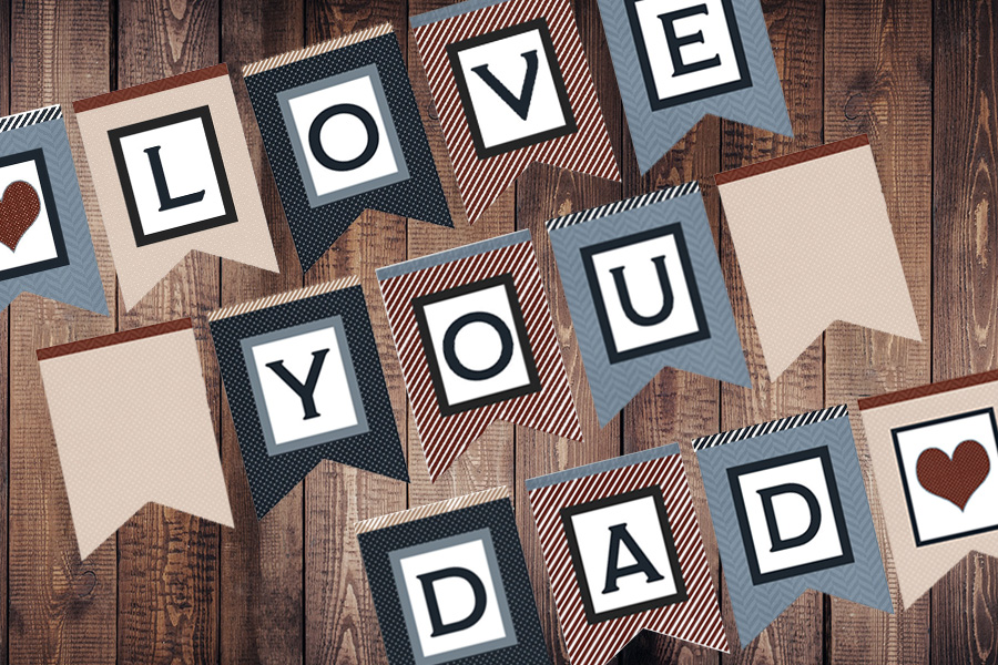 Father's Day Banner: Free Printable