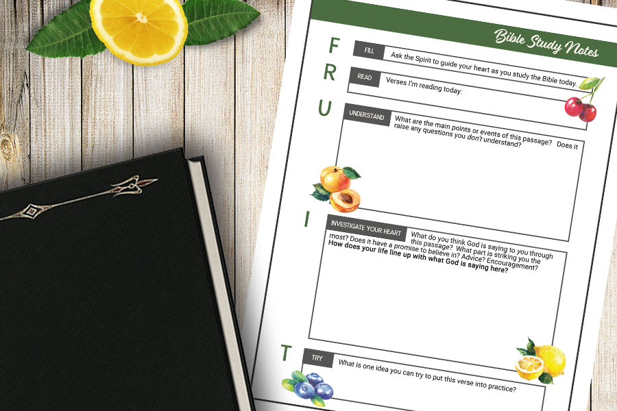 picture regarding Free Printable Bible Study Guides identify FRUIT\