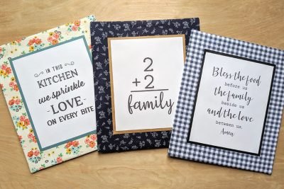 DIY Fabric Frame Home Decor