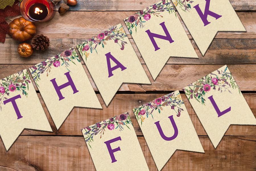 Thankful Banner – Cream Background