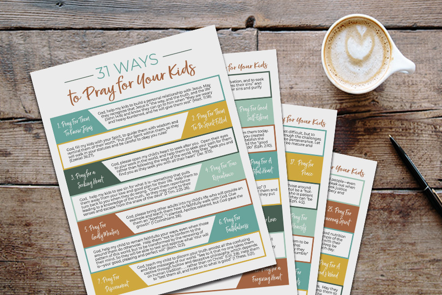 31 Ways to Pray for Your Kids – Free Printable Guide