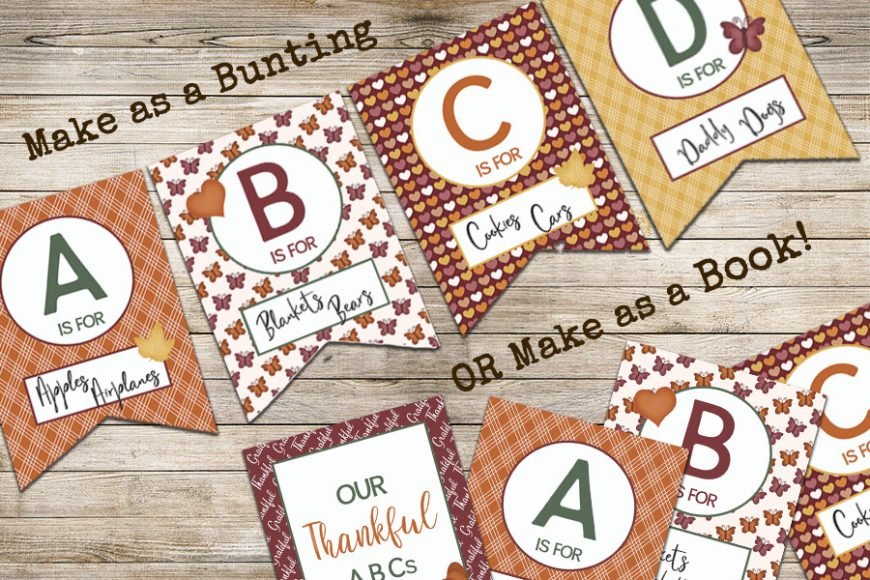 Thankful ABCs – Free Printable