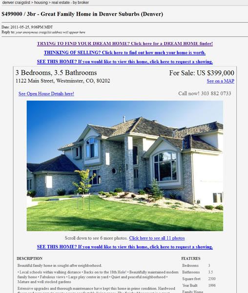Real Estate Craigslist Flyer Smart