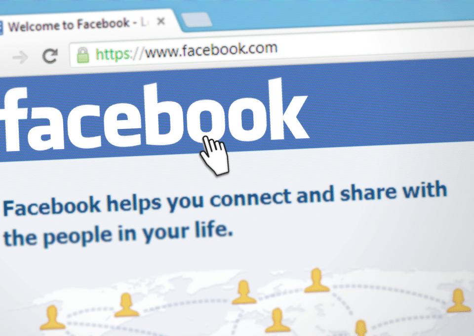 Showing a screen shot of facebook before you login.