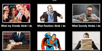6 people showing how people think about realtors.