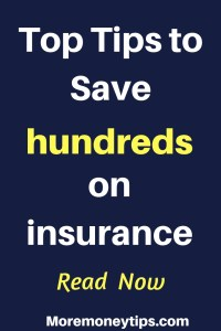 Top Tips to save hundreds on insurance
