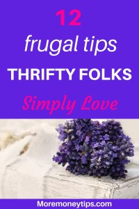 12 frugal tips thrifty folks simply love.