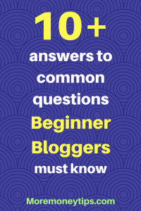 Answers to common questions for new bloggers