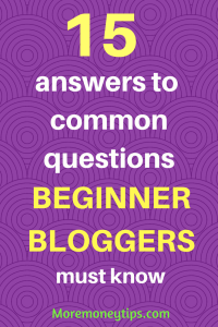 15 answers to common questions beginner bloggers must know against tasteful purple background