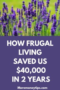 HOW FRUGAL LIVING SAVED US $40,000 IN 2 YEARS