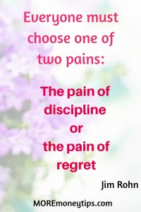 Jim Rohn quote about the pain