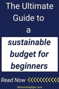 The Ultimate Guide to a sustainable budget for beginners