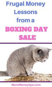 Frugal Money Lessons from a Boxing Day Sale