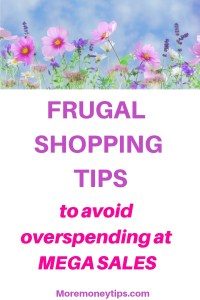 Frugal Shopping Tips to avoid overspending at Mega Sales