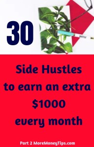 30 Side Hustles to earn an extra $1000 every month