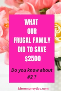 What our frugal family did to save $2500