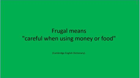 Frugal meaning