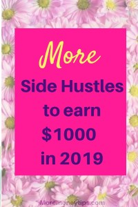 More side hustles to make $1000