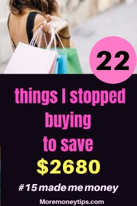 Frugal Living – 22 Things We Stopped Buying to Save Money