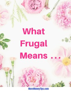 What frugal means